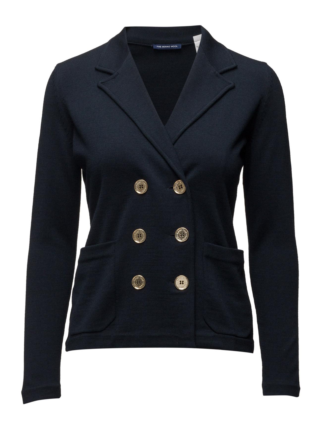 Knitted Merino Wool Blazer GANT Blazere til Kvinder i Marine blå