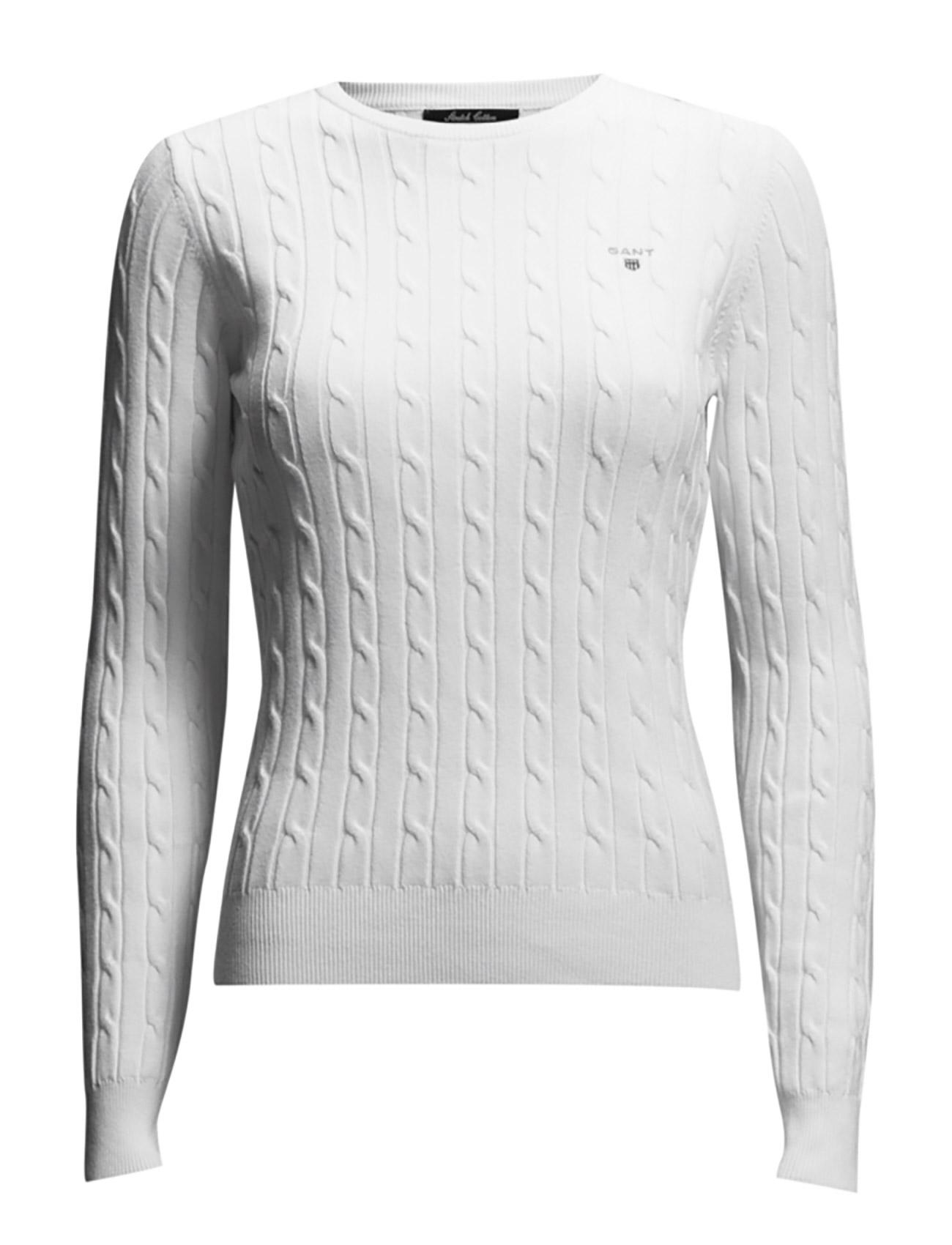 Stretch Cotton Cable Crew GANT Sweatshirts til Kvinder i