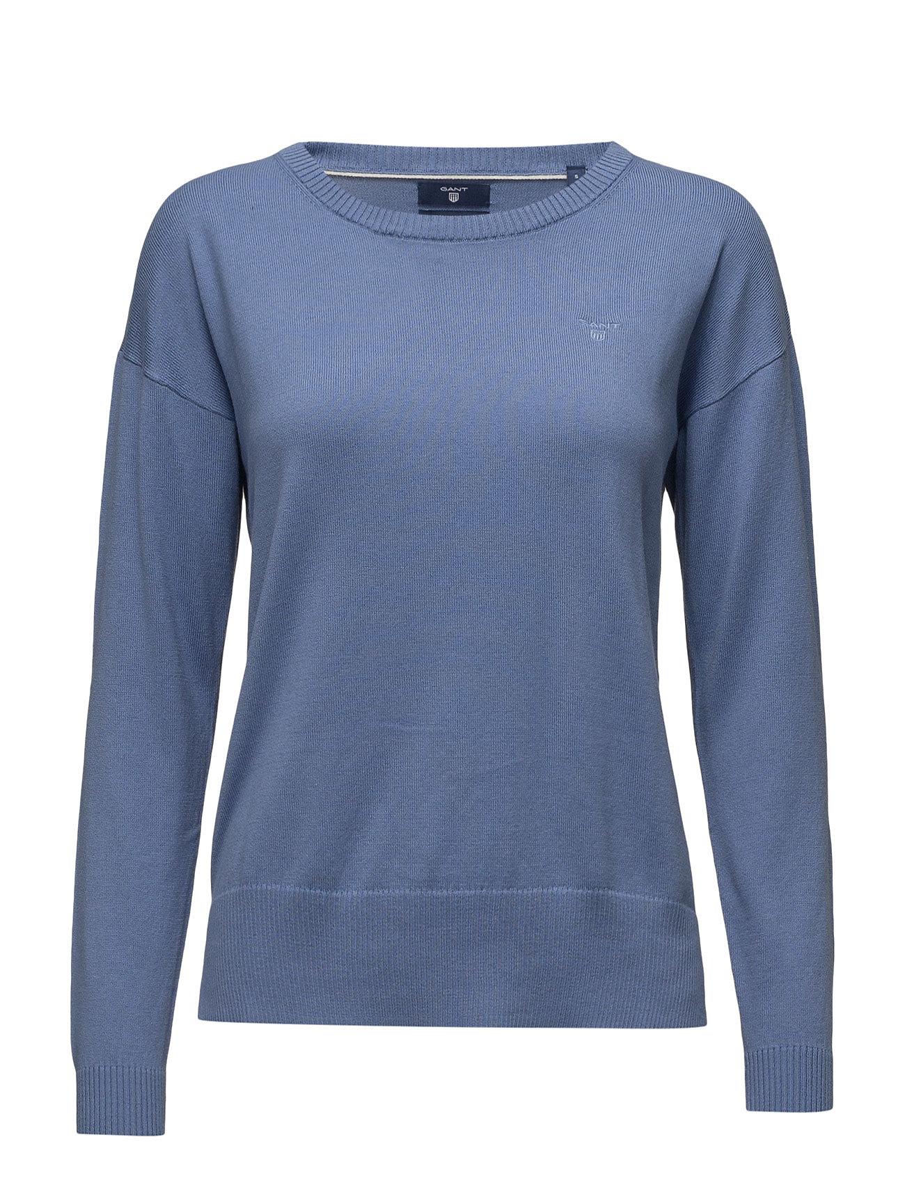 Soft Cotton Casual Crew GANT Sweatshirts til Damer i