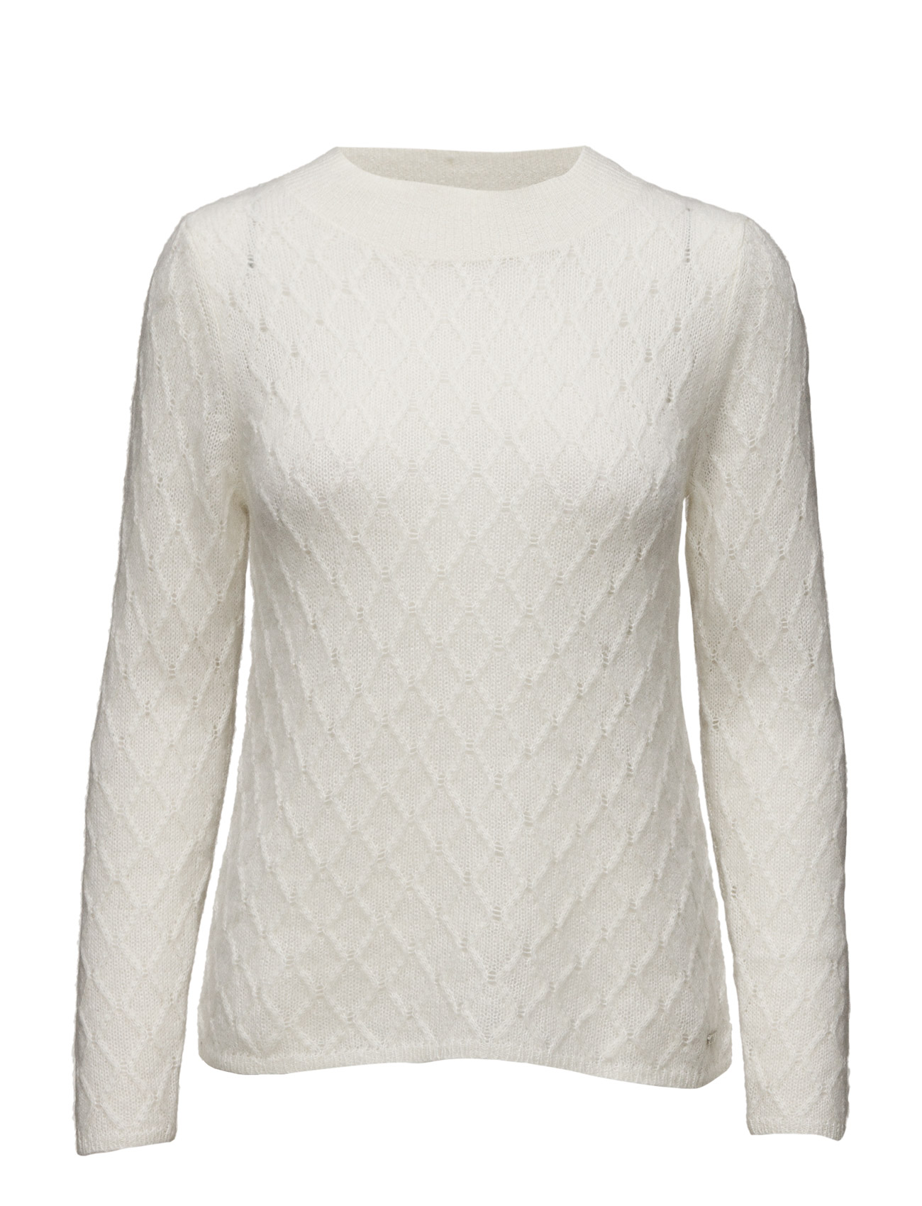 O2. Mohair Argyle Crew GANT Sweatshirts til Kvinder i Fløde
