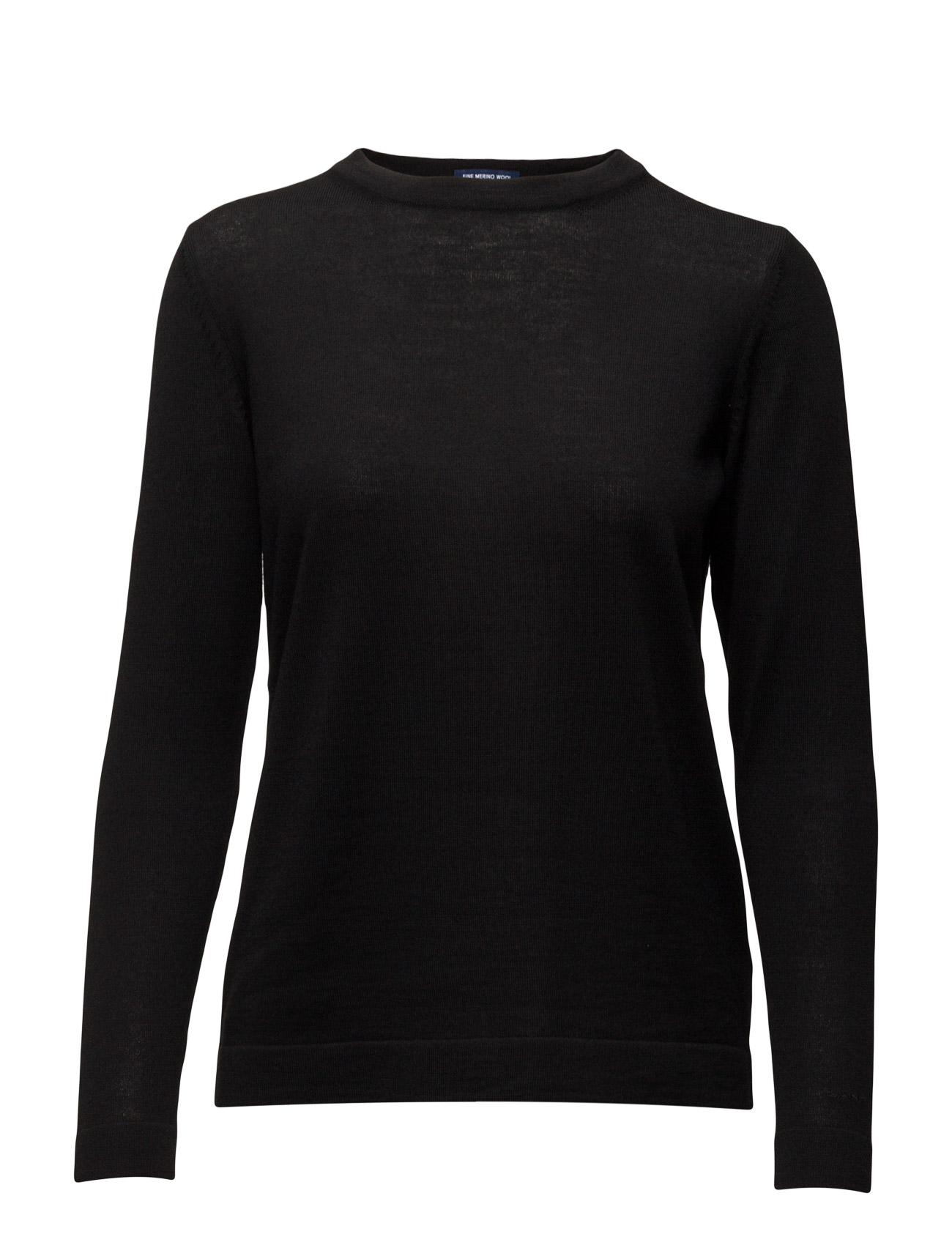 Fine Merino Wool Crew GANT Sweatshirts til Damer i Sort