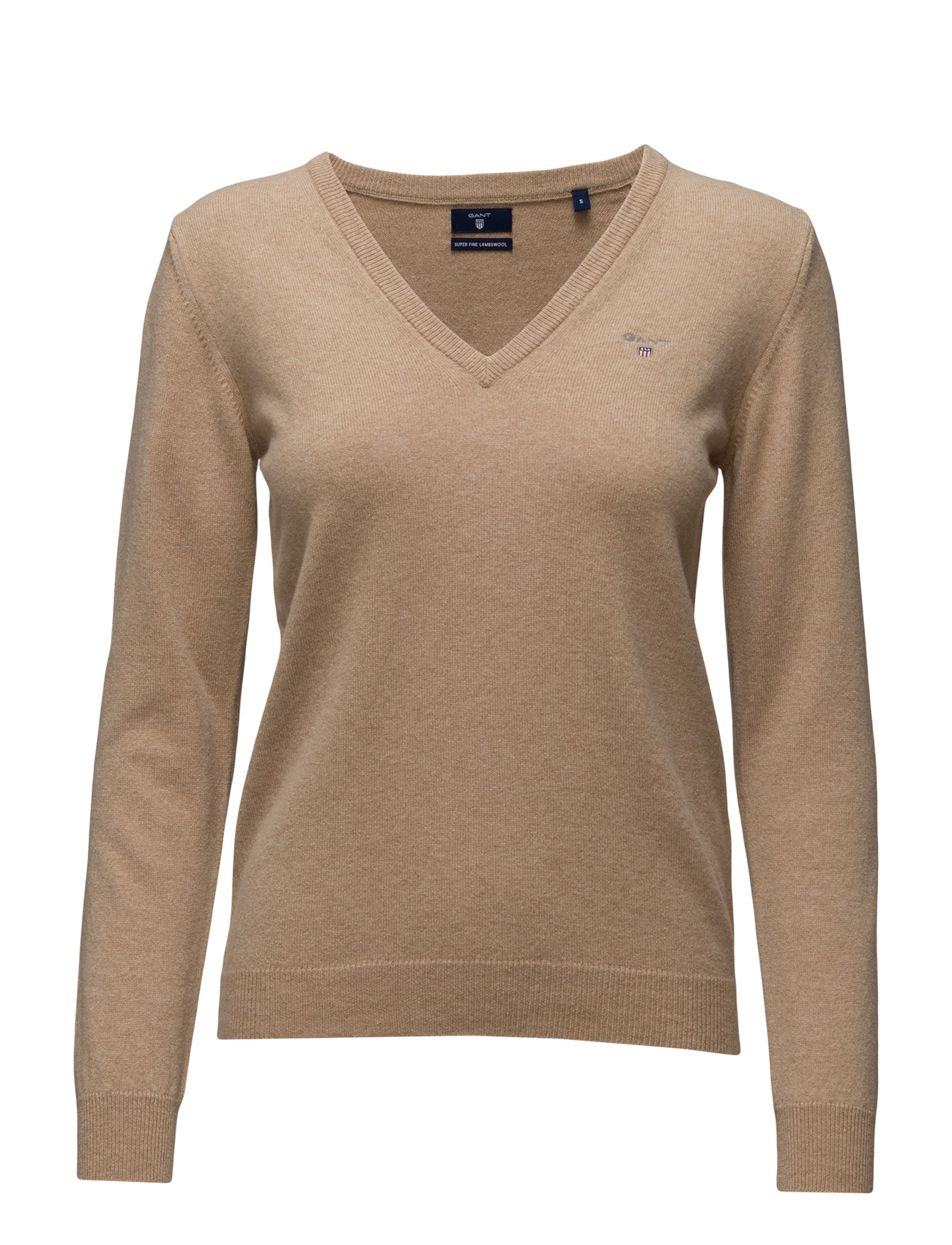 Super Fine Lambswool V-Neck GANT Sweatshirts til Damer i