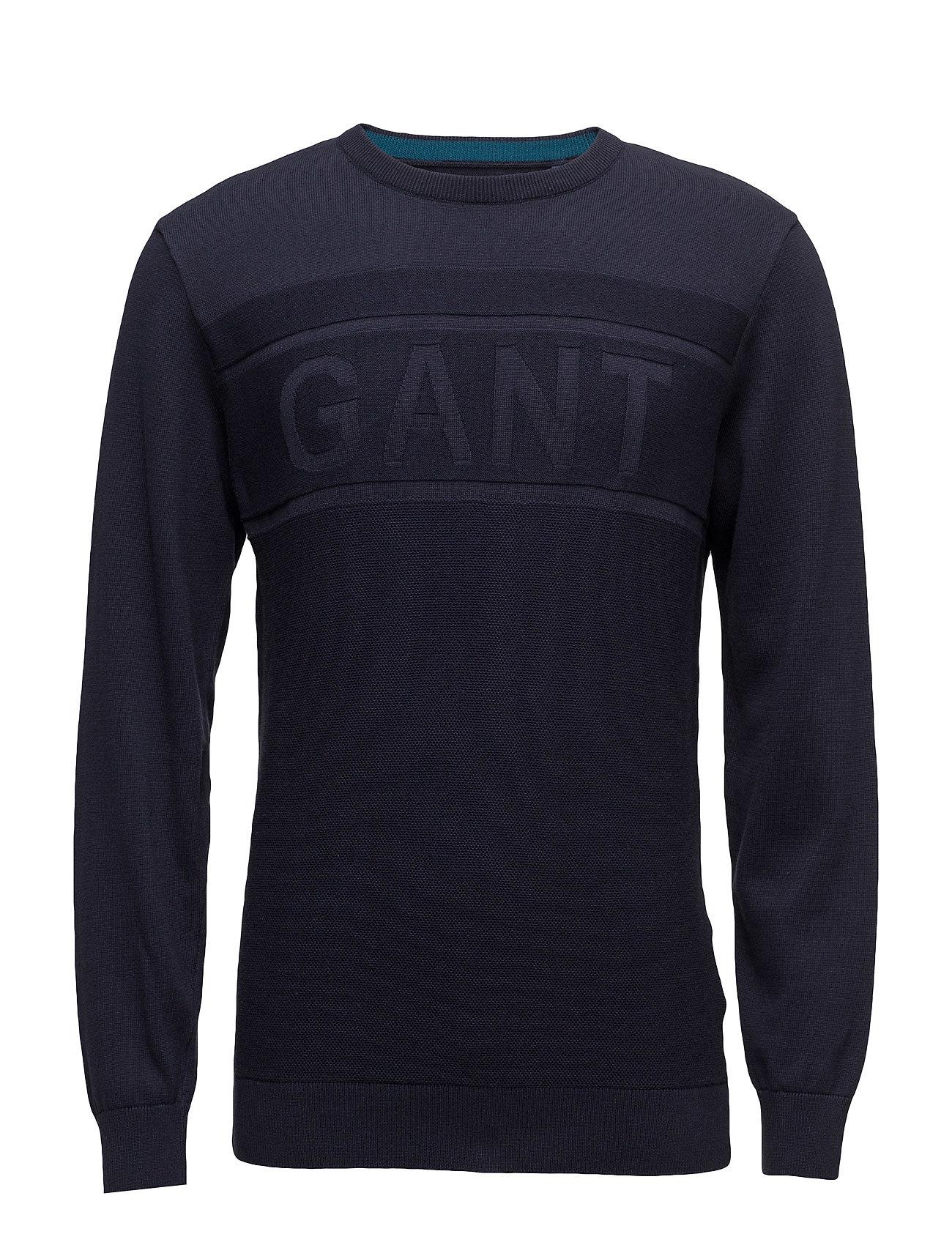 GANT O1. GANT LOGO TEXTURE CREW