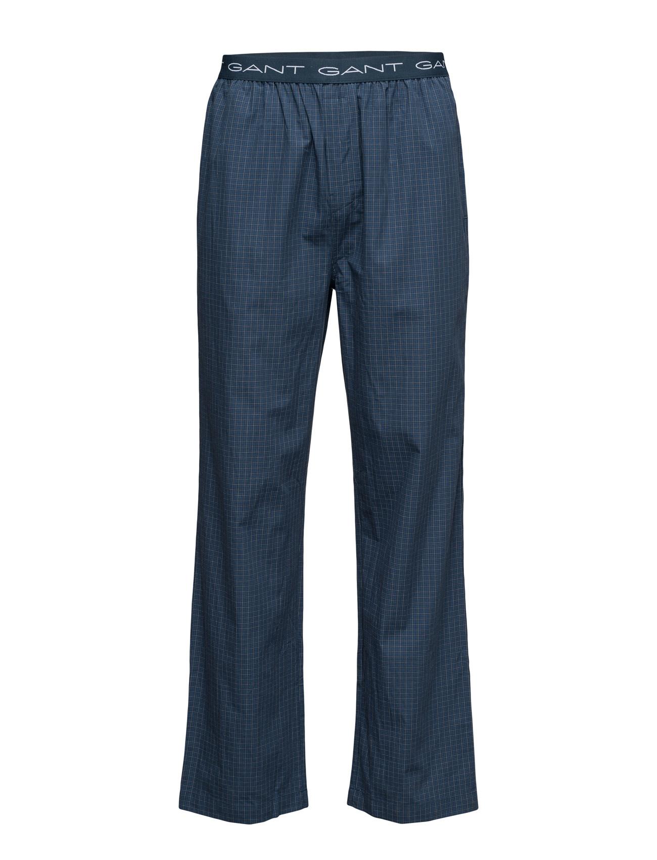Pajama Pants Madison Check Logo El GANT Nattøj & Loungewear til Herrer i Navy blå