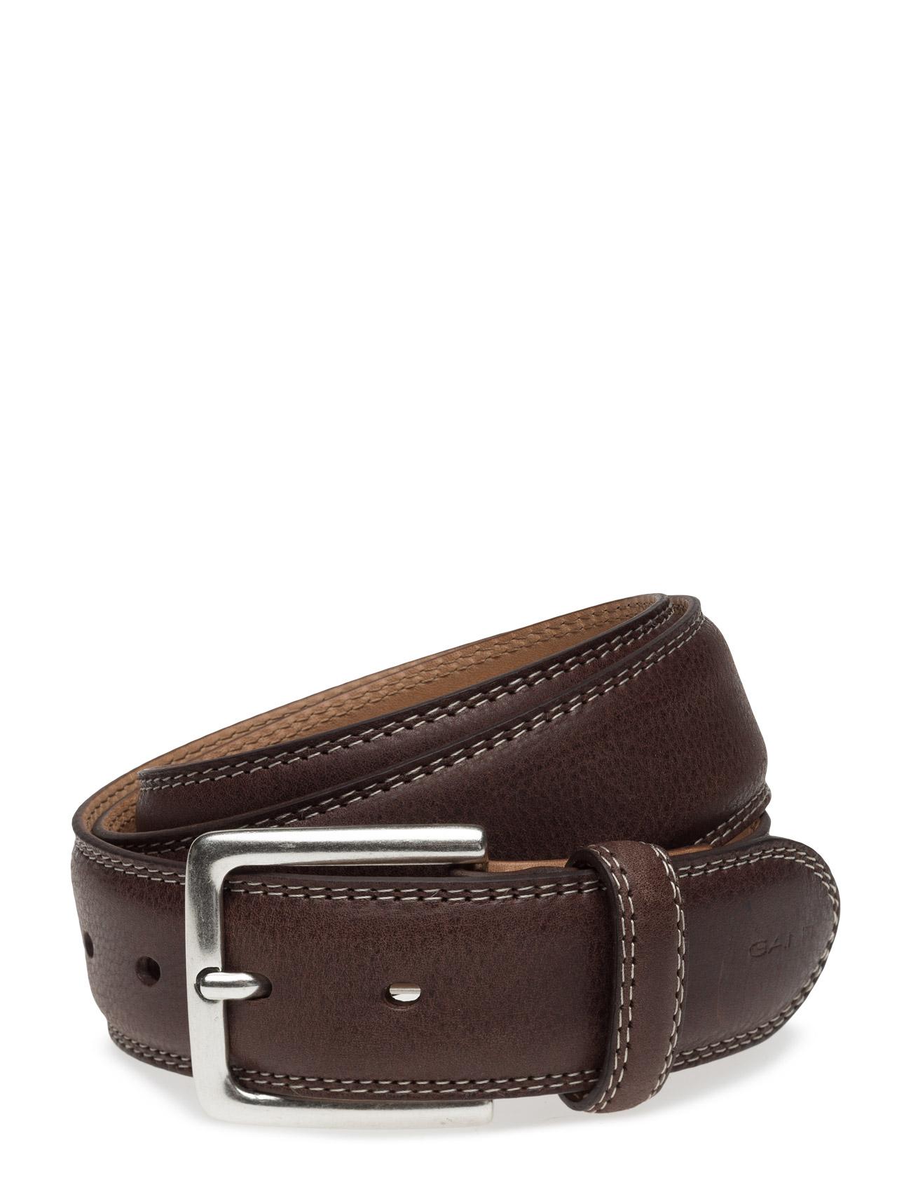 Classic Jeans Belt GANT Bælter til Herrer i Mørkebrun