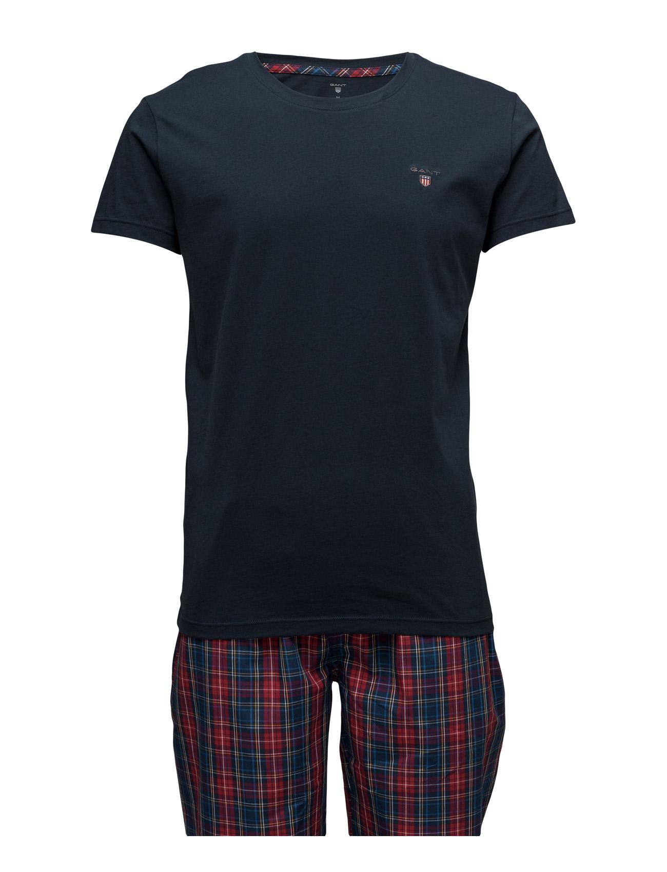 Pajama Set Yale Check Logo T GANT Nattøj & Loungewear til Mænd i Rød