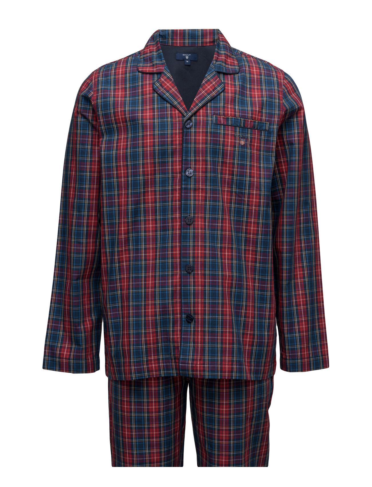 Pajama Set Yale Check Logo Elastic GANT Nattøj & Loungewear til Mænd i Rød