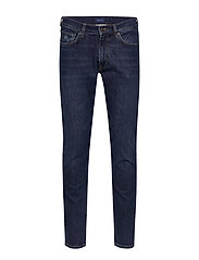 TAPERED GANT JEANS - DARK BLUE WORN IN