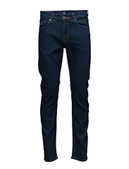 SLIM STRAIGHT GANT JEAN - MID BLUE