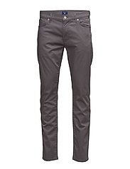 O SLIM STRAIGHT SATIN JEAN - GRAPHITE