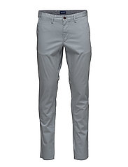 SLIM TWILL CHINO - WINDY GRAY