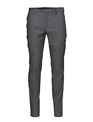 G1.TAILORED SLIM STRETCH LINEN PANT - GREY MELANGE