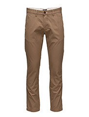 SLIM GANT CHINO - WOOD BROWN