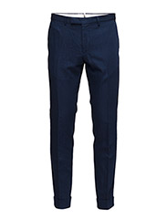 R2. COTTON TWILL SMARTY PANTS - PERSIAN BLUE