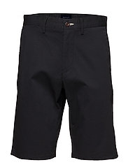 O1. RELAXED TWILL SHORTS - BLACK