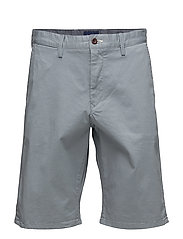 O1. RELAXED TWILL SHORTS - WINDY GRAY