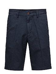 O1. COTTON LINEN SHORTS - CLASSIC BLUE