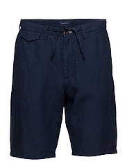 O2. RELAXED LINEN SHORTS - CLASSIC BLUE