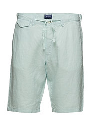 O2. RELAXED LINEN SHORTS - MINT BLUE