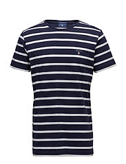 O2. BRETON STRIPE SS T-SHIRT - EVENING BLUE