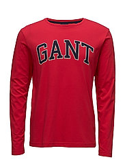 OP1. GANT OUTLINE LS T-SHIRT - BRIGHT RED