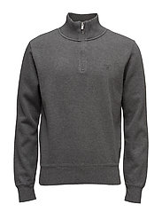 SACKER RIB HALF ZIP - ANTRACIT MELANGE