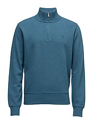 SACKER RIB HALF ZIP - INK BLUE MEL