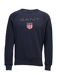 GANT SHIELD C-NECK SWEAT - EVENING BLUE