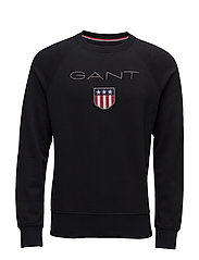 GANT SHIELD C-NECK SWEAT - BLACK