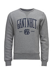 O1. GANT NHCT C-NECK SWEAT - DARK GREY MELANGE