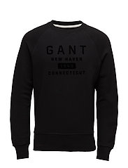 OP2. GANT NEW HAVEN C-NECK SWEAT - BLACK
