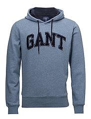 OP1. GANT EMBRODERY SWEAT HOODIE - DENIM BLUE MEL