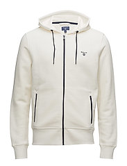 OP2. CONTRAST SHIELD FULL ZIP HOOD - OFFWHITE