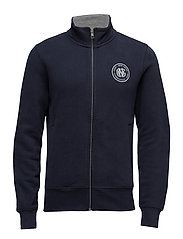 O1. GNH FULL ZIP CARDIGAN - EVENING BLUE