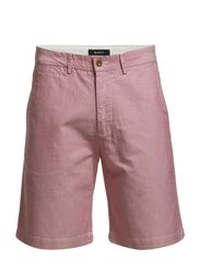 O.P. COTTON OXFORD SHORTS C. - POMEGRANATE