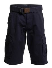 BELTED CARGO SHORTS - FRENCH NAVY