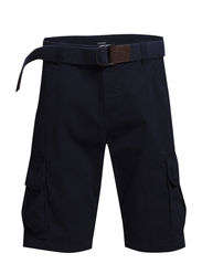 BELTED CARGO SHORTS L. - CLASSIC BLUE