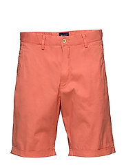 O2. REGULAR SUNBLEACHED SHORTS - STRONG CORAL