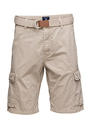LOOSE BELTED CARGO SHÓRTS - DRY SAND