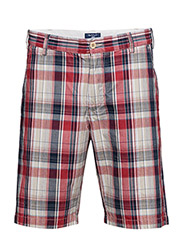 O3. REGULAR MADRAS SHORTS - RED