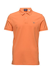 SOLID PIQUE SS RUGGER - CARROT ORANGE