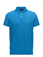 SOLID PIQUE SS RUGGER - ASTER BLUE