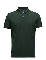 SOLID PIQUE SS RUGGER - PINE GREEN
