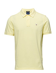 SOLID PIQUE SS RUGGER - LIGHT YELLOW
