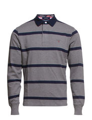 W. BRETON STRIPE HEAVY RUGGER - DARK GREY MELANGE
