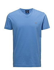 THE ORIGINAL FITTED V-NECK T-SHIRT - PACIFIC BLUE