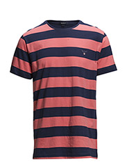 L. BARSTRIPE T-SHIRT - LIGHT CORAL
