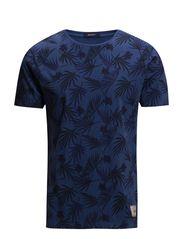 L. FLORAL T-SHIRT - VINTAGE BLUE