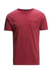 O. SALTY BLEACHED POCKET T-SHIRT - BLOOD