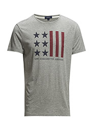 FLAG T-SHIRT - LIGHT GREY MELANGE
